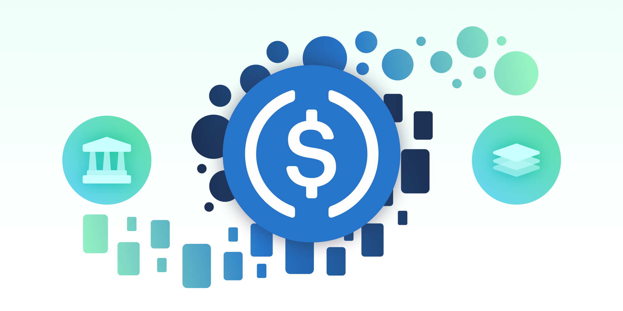 Dollar stablecoins, such as USD Coin (USDC), enable treasury departments and financial institutions to tap into the yield-generation opportunities found in DeFi and CeFi that typically provide higher yields than traditional fixed income securities.
