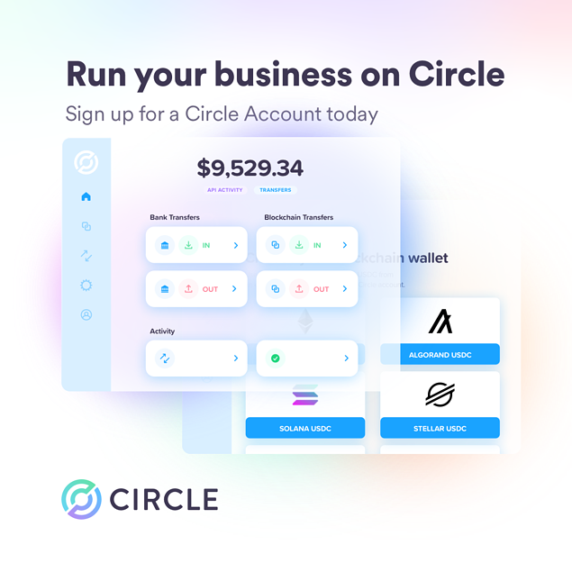 Run your business on Circle with a Circle Account