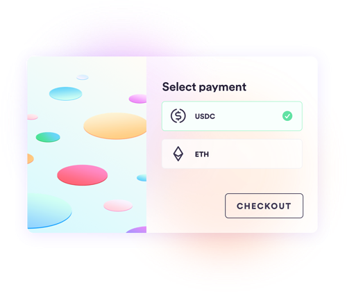 Select payment Ethereum or USDC